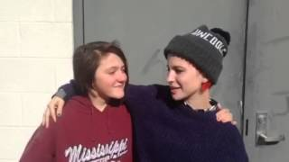 Hayley Williams visiting the Hibbett Middle School