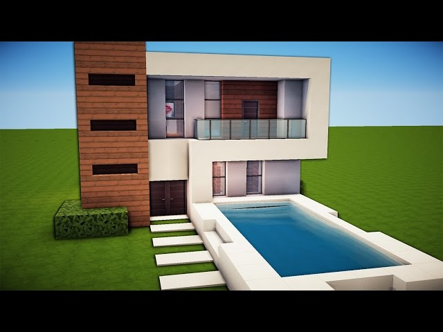 Minecraft simple easy modern house tutorial for Modern house music