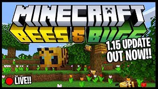 • MINECRAFT 1.15 UPDATE IS OUT!! *BEES & BUGS UPDATE* | *FIRST LOOK!!* | Minecraft Livestream