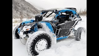 10. 2018 CAN AM MAVERICK X3 XRC FRESH POWDER SNOW DAY!!!!!!