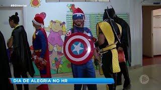 Sorocaba: super-heróis levam alegria a hospital
