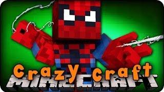 Minecraft Mods - CRAZY CRAFT 2.0 - Ep # 26 'SPIDERMAN VS BLACK WIDOW SPIDER!!' (Superhero Mod)