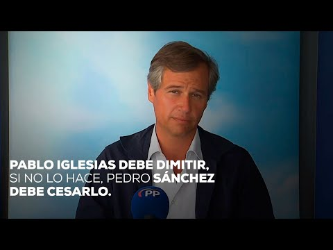 Pablo Iglesias debe dimitir, si no lo hace, Pedro Sánchez debe cesarlo