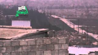 حلب البحوث العلمية الجيش الحر يستهدف تجمعات قوات الاسد بقذائف الدبابات 8 12 2014