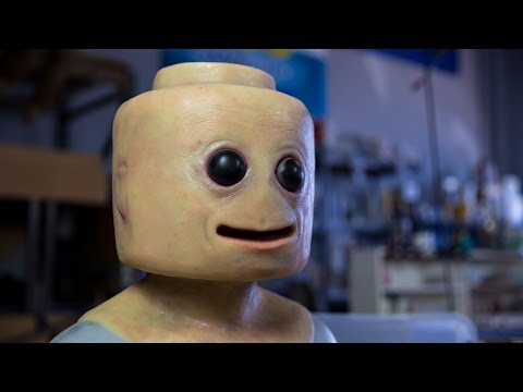 Creepy LEGO Minifig Mask