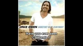 La chanson Anywhere With You de Jake Owen avec les paroles.