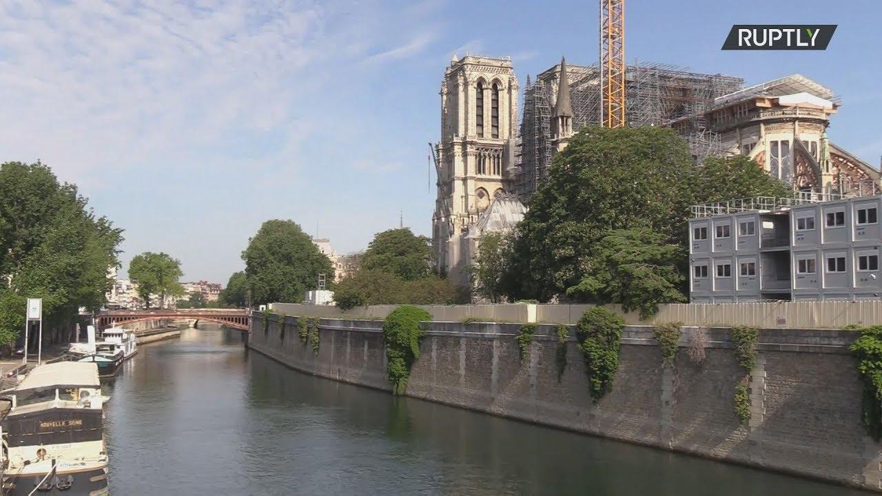 Γαλλία:Τα εργοτάξια στην Νοτρ Νταμ άνοιξαν πάλι σήμερα, μετά ενάμιση μήνα απραξίας λόγω κορονοϊού