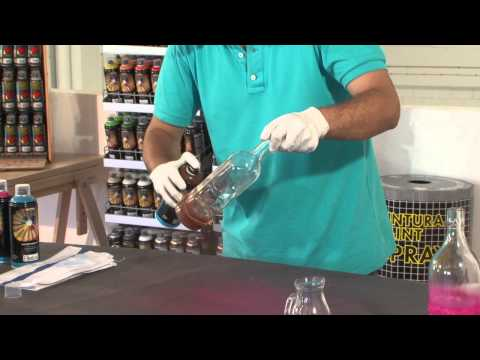 Tutorial: Cómo decorar una botella de cristal con spray paso a paso
