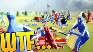 Totally Accurate Battle Simulator - HUGE DRUNKEN BATTLES! - T.A.B.S Gameplay