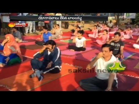 International Yoga Day 2016 Celebrations    Balakrishna Performs Yoga at KBR Park in Hyderabad