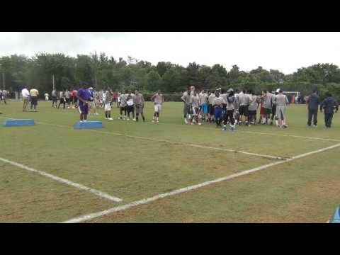 Mike London 2012 UVA Football Camp JaVon Price  RB Catching Drill #2