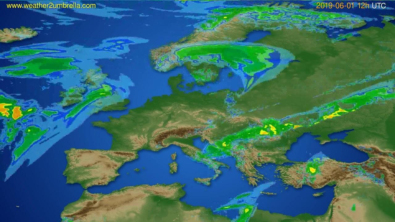 Radar forecast Europe // modelrun: 00h UTC 2019-06-01