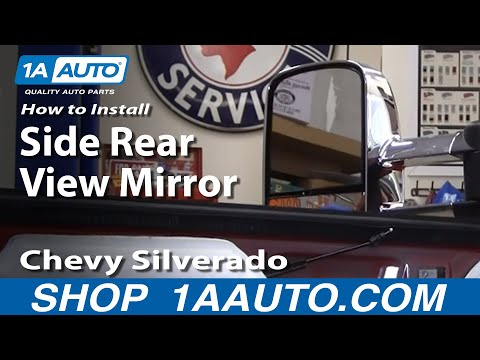 How To Install Replace Side Rear View Mirror Chevy Silverado Avalanche GMC Sierra 07-11 1AAuto.com
