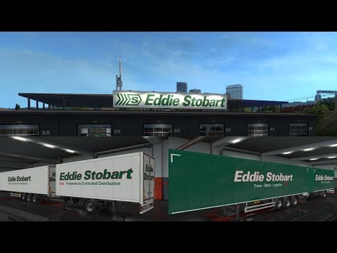 EDDIE STOBART OWNERSHIP TRAILER - WHITE v1.0