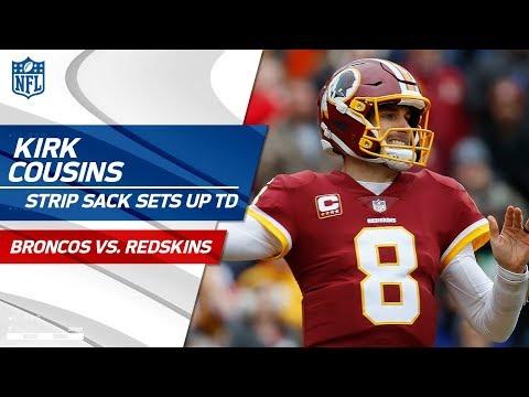 Video: Smith Strip Sacks Osweiler to Set Up Cousins' TD Pass to Crowder! | Broncos vs. Redskins | NFL Wk 16