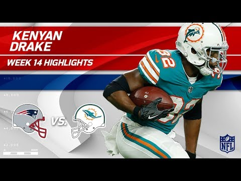 Video: Kenyan Drake Explodes for 193 Total Yards vs. Pats! | Patriots vs. Dolphins | Wk 14 Player HLs