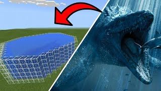 How To Make a MOSASAURUS Farm in Minecraft PE