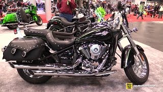 9. 2015 Kawasaki Vulcan 900 Classic LT - Walkaround - 2014 New York Motorcycle Show