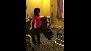 Hip flexion standing