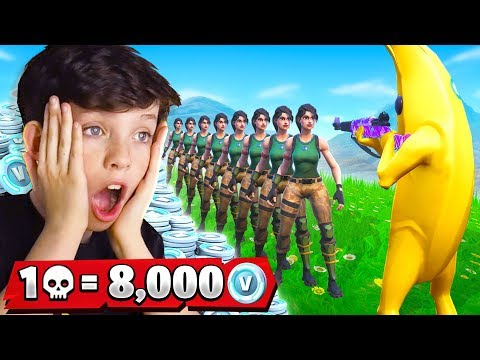 1 Elimination = 8,000 *free* VBucks With My Little Brother (Fortnite Battle Royale) - Thời lượng: 15:57.