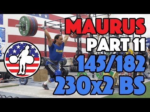 Harrison Maurus Part 11/11 Pre 2017 WWC Training 145kg/182kg + 230kg Back Squat Doubles [4k60]