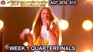Courtney Hadwin Papas Got A Brand New Bag AWESOMEQuarterfinals 1 Americas Got Talent 2018 AGT