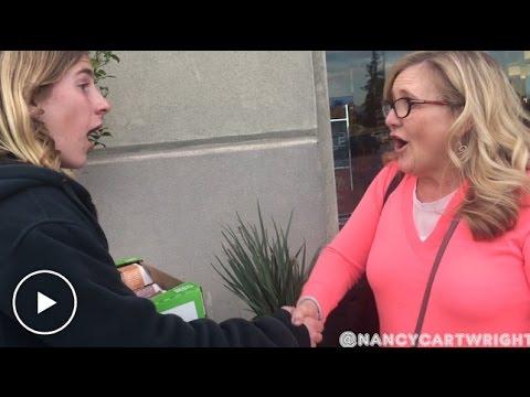 Nancy Cartwright (Voice of Bart Simpson) surprises teen