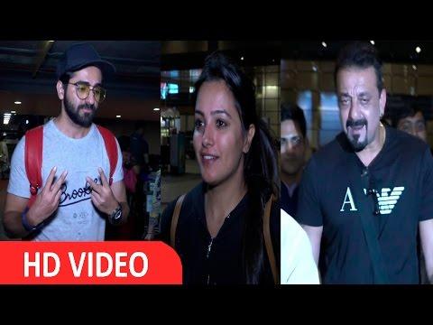 Sanjay Dutt, Ayushmann Khurrana & Anita Hassanandani Spotted At Airport