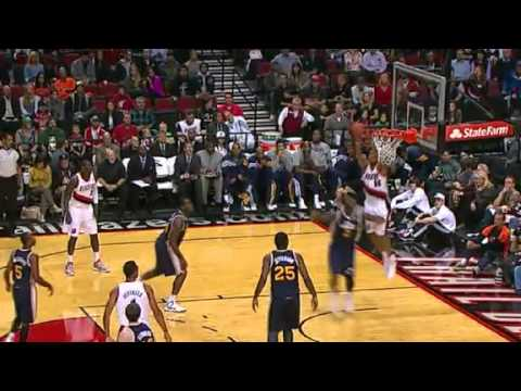 Karl to Batum Alley Oop Dunk against Utah Jazz