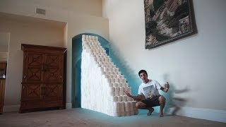 """THAT WAS SO LITI decided to buy 1,000 rolls of toilet paper and build a staircase with it and attempt to make it to the second story.. What do you think is gonna happen?? Hope you guys enjoyed the video and as always please be sure to drop a like and SUBSCRIBE if you're new! Love you all! Let me know if you want to see more videos like this :)• SUBSCRIBE IF YOU'RE NEW - http://bit.ly/SubToRugAdd me on Snapchat! """"thefazerug""""Follow me on my Social Media to stay connected!Twitter - https://twitter.com/FaZeRugInstagram - https://instagram.com/rugfazeSnapchat - """"thefazerug"""" (Add me to see how I live my daily life) :DIf you read this far down the description I love you"""