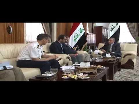خالد العبيدي يستقبل القائم بالأعمال الفرنسي في بغداد