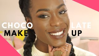 BROWN CHOCOLATE - maquillage naturel dans les tons bruns - YouTube