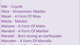 Christian Baby Girl Names M