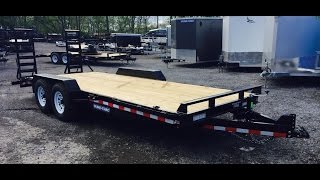 5. Sure Trac Equipment  Implement Trailer 7x18 14000# Flatbed ST8118IT-B-140 Best Choice Trailers
