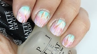 Spring Ombre Nail Art - YouTube