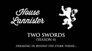 The House Lannister theme that plays in the soundtrack when they're on screen, or when a plot-point involving them is taking place.Check out the playlist for more themes, including an awesome hour-long compilation of all of them! Just press play, sit back & enjoy.Music composed by: Ramin DjawadiFont: Wisdom Script by James T. Edmondson