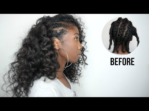 how i install my knatural coarse clip knappy hair extensions side cornrows hairstyle with clip ins no heat minimal leave out pmusecretfo Choice Image