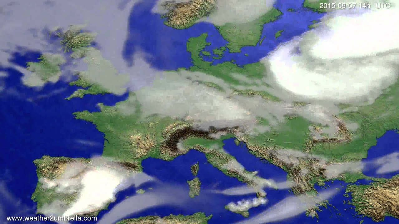 Cloud forecast Europe 2015-09-05