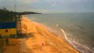 Пляж в Щёлкино, 12.04.2014 - time-lapse с камеры 1