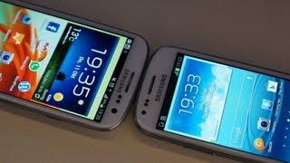 Samsung Galaxy S III Mini Hands-On Und Galaxy S3 Vergleich