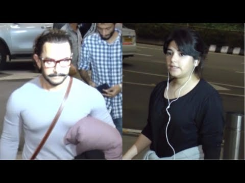 Aamir Khan & Zaira Wasim Fly For Secret Superstar Delhi Promotion