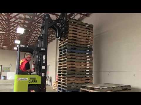 Narrow Aisle Reach Forklift - Moving a Load