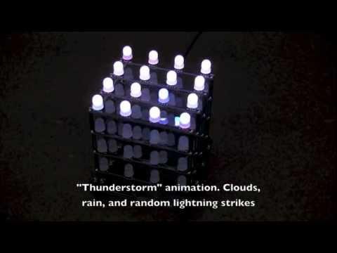 4x4x4 RGB LED Cube Patterns