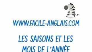 Apprendre Les Saisons Et Les Mois De L'année En Anglais Avec Facile-anglais.com