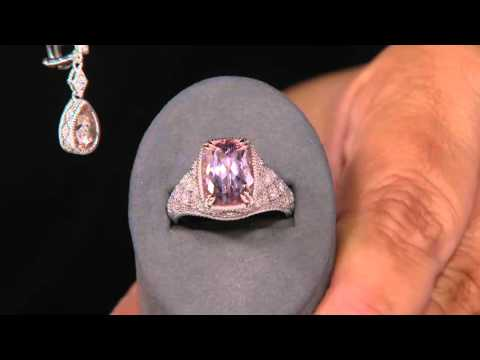 Judtih Ripka Morganite Estate Earrings on QVC