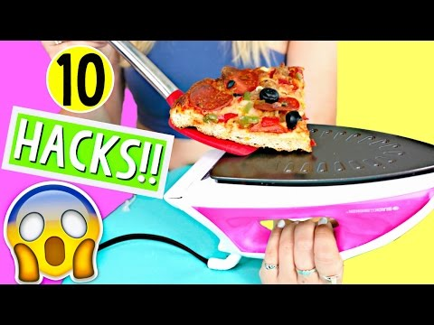 10 Life Hacks for LAZY College Students!! Back to School! Alisha Marie (видео)