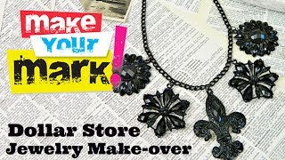 HOW TO: Dollar Store Jewelry Makeover DIY - YouTube