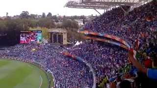40,000+ Indian cricket fans singing the Indian National Anthem before the start of India v/s Pakistan 2015 WC match at Adelaide Oval. #Unforgettable moment.