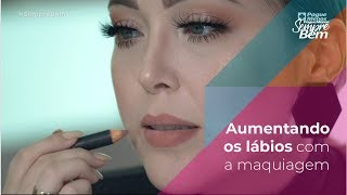 Beleza Express - Aumentando os lábios com maquiagem
