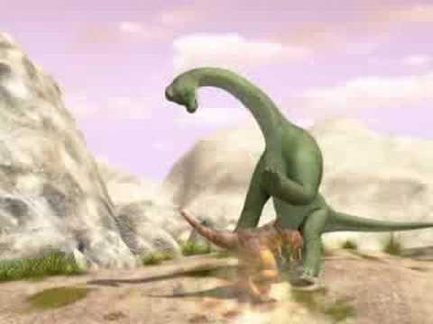 Dinoduel battle Tyrannosaurus rex and Ultrasaurus
